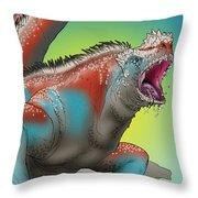 Giant Marine Iguana Throw Pillow