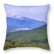 Giant Mountain From Owls Head Throw Pillow