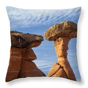 Giant Mushrooms Throw Pillow