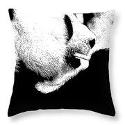 Giant Panda With Script #2 Throw Pillow