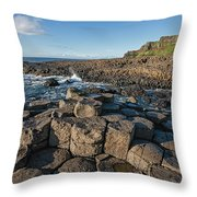 Giant S Causeway, Antrim Coast Throw Pillow