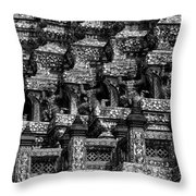 Giant Statues In Wat Arun Throw Pillow