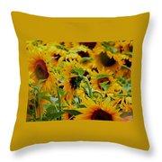 Giant Sunflowers Throw Pillow