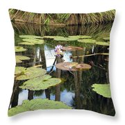 Giant Water Lilies Throw Pillow