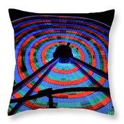 Giant Wheel Throw Pillow by Mark Miller