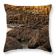 Giants Causeway, Antrim Coast, Northern Throw Pillow