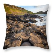 Giant's Causeway Circle Of Stones Throw Pillow