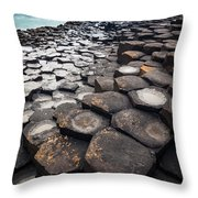 Giant's Causeway Hexagons Throw Pillow