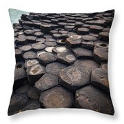 Giant's Causeway Pillars Throw Pillow