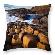 Giant's Causeway Surf Throw Pillow