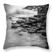 Giant's Causeway Waves  Throw Pillow