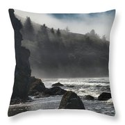 Giants In The Fog Throw Pillow by Adam Jewell