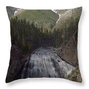 Gibbon Falls Throw Pillow