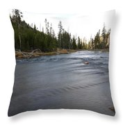 Gibbon River Throw Pillow