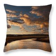 Gibbon River Yellowstone Throw Pillow