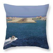 Gibraltar International Airport Throw Pillow