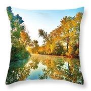 Gibralter Mi Waterway Throw Pillow