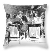 Gibson: Dinner Party, 1894 Throw Pillow