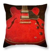 Gibson Es-335 Electric Guitar Body Throw Pillow