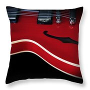 Gibson Es-335 Electric Guitar Throw Pillow