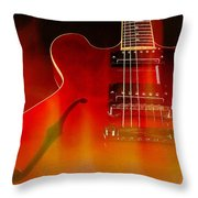 Gibson Es-335 On Fire Throw Pillow