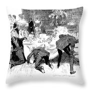 Gibson: Fans And Gloves Throw Pillow