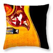 Gibson Hummingbird Throw Pillow