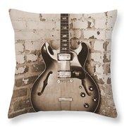 Gibson In Sepia Throw Pillow