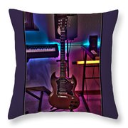Gibson In Studio Throw Pillow