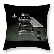 Black And White Les Paul Throw Pillow