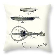 Gibson Mandolin Patent 1898 Throw Pillow