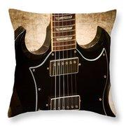 Gibson Sg Standard Brick Throw Pillow