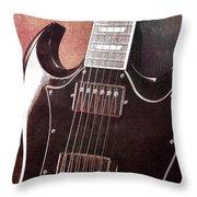Gibson Sg Standard Red Grunge Throw Pillow