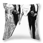 Gibson: The Debutante, 1899 Throw Pillow