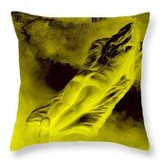 Giddy Fulfilment For Golden Beauty Throw Pillow