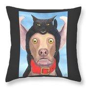 Giddyup Pink Dog Throw Pillow