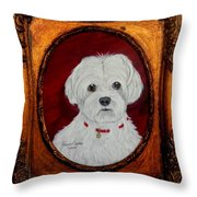 Gidget.my Maltese Throw Pillow