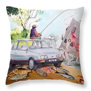 Gift Listen With Music Of The Description Box Throw Pillow