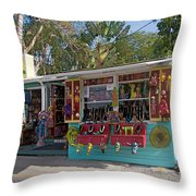 Gift Shop In Key West Throw Pillow
