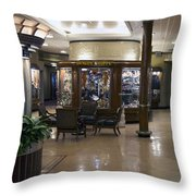 Gift Shops Queen Mary Ocean Liner Throw Pillow