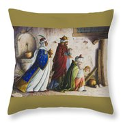 Bearing Gifts Throw Pillow