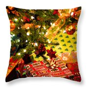 Gifts Under Christmas Tree Throw Pillow by Elena Elisseeva