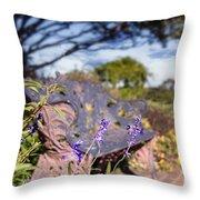 Gilcrease House Garden Flower Throw Pillow by Tamyra Ayles