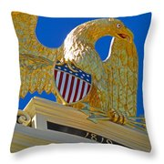 Gilded Eagle Throw Pillow