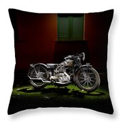 Gilera Vl Lusso And Italian House Throw Pillow