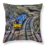 Gilfach Fargoed Railway Station Throw Pillow