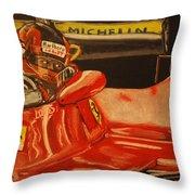 Gilles Villeneuve At Monaco 1980 Throw Pillow