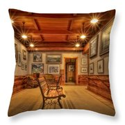 Gillette Castle Gallery Room Throw Pillow