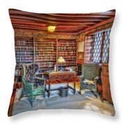 Gillette Castle Library Throw Pillow