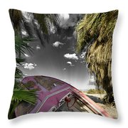 Gilligans Island Black And White 1 Throw Pillow